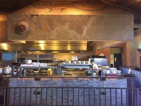 The kitchen at the new El Jefe's Cantina in Circus Circus Reno includes the decorative hood from the old Art Gecko's Southwestern Grill that used to occupy part of the same space.