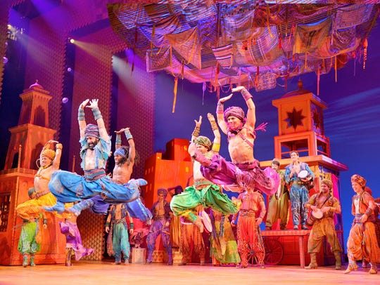"""Aladdin,"" the musical based on the 1992 animated Disney"
