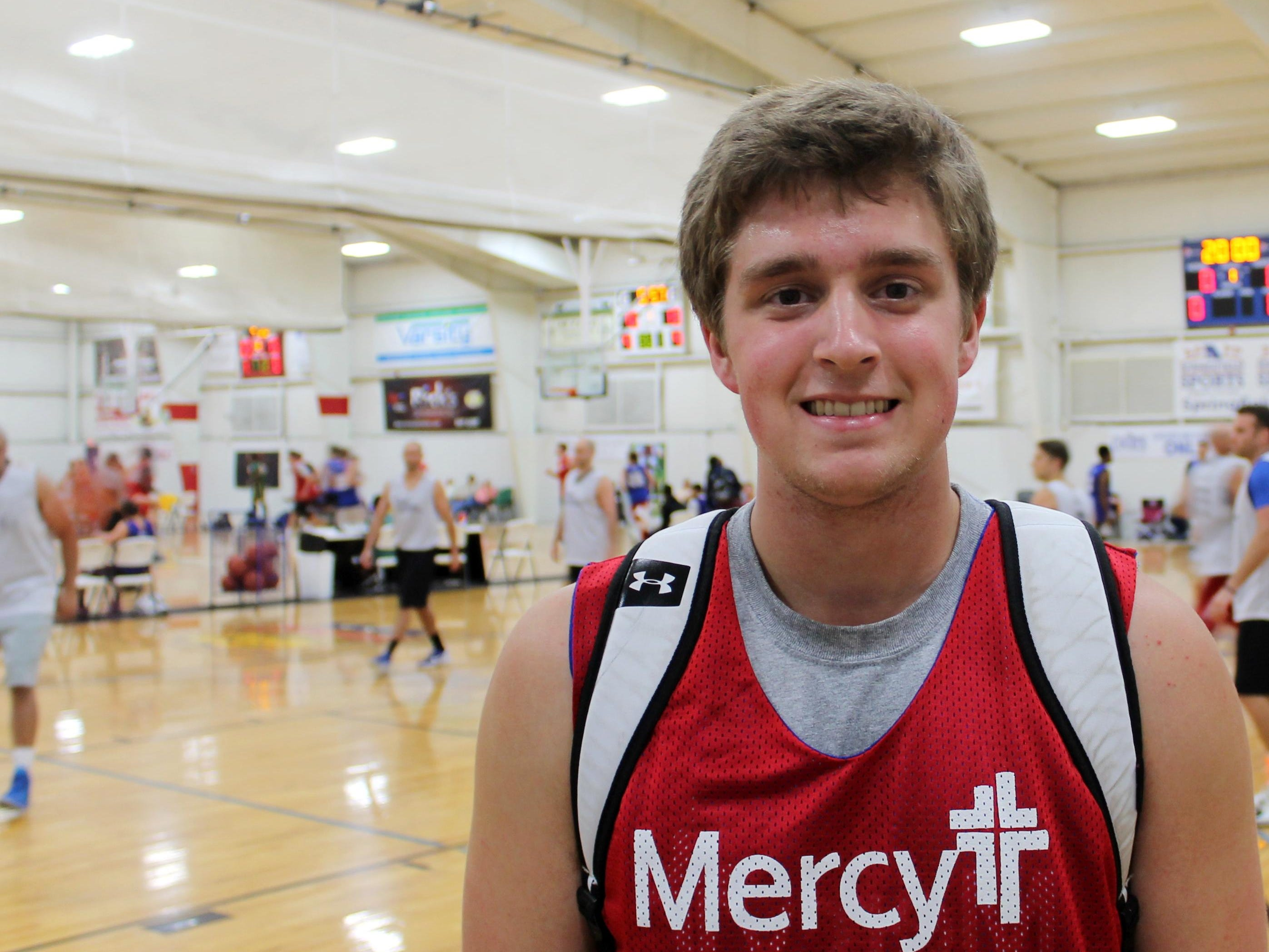 Kickapoo 2015 graduate Ryan Burland got an early idea of what playing basketball at College of the Ozarks would be like by playing with his future teammates in the Mercy College/Pro-Am League.