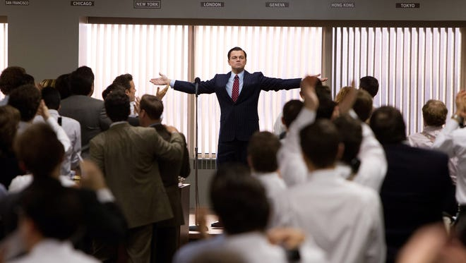 Leonardo DiCaprio as Jordan Belfort in a scene from the motion picture 'The Wolf of Wall Street.'