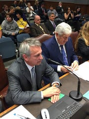 Senate Finance Chairman Eric LaFleur, D-Ville Platte, and Senate President John Alario, R-Westwego, testified before the House Appropriations Committee Tuesday.