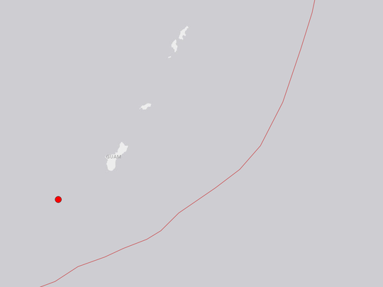 A 5.6 quake shook Guam on Oct. 20