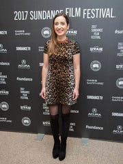 """Director/writer/producer/actress Zoe Lister-Jones poses at the premiere of the film """"Band Aid"""" at the Eccles Theatre during the 2017 Sundance Film Festival on Tuesday, Jan. 24, 2017, in Park City, Utah."""