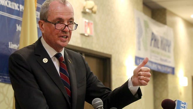 Democratic gubernatorial candidate Phil Murphy speaks at the Airport Rennaissance Hotel in Tinicum Township, PA, during the Democratic National Convention NJ Delegates breakfast meeting Monday, July 25, 2016.