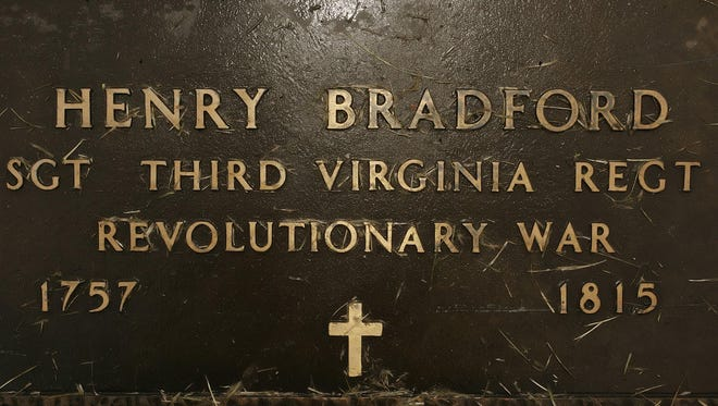 The grave of Henry Bradford is on the property of the of the Bradford Berry house in Hendersonville.