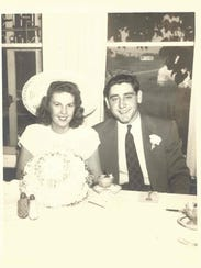 Irma and Joe Roberts on their wedding day, July 13,