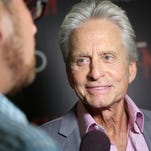 Michael Douglas is interviewed at a screening of Marvel's 'Ant-Man' in New York.