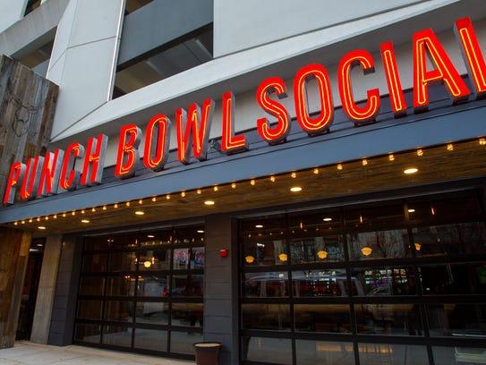 Punch Bowl Social facades look similar no matter the