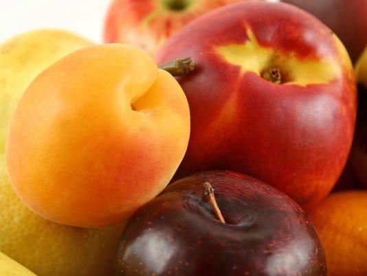 Peaches plums