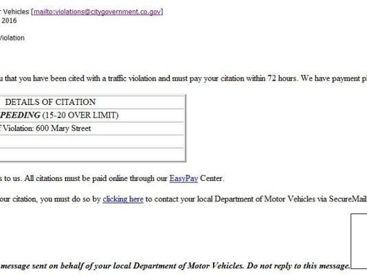 Sheriff: Online traffic ticket scam reported in Evansville