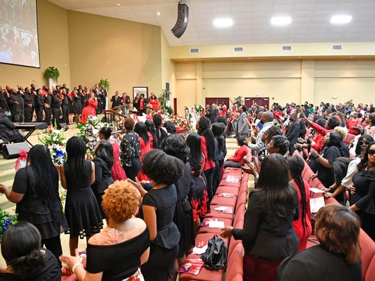 It was a full house during the funeral of DeEbony Groves,