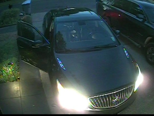This is a picture of the suspect's car driven that