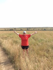 Amber Rappe enjoying the view while on a field study trip to Kenya with other students from UW-Stevens Point.