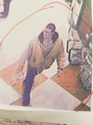 Marshall police ask that anyone with information about the white male captured in this security footage from the Marshall Ingles call 649-2111 or email marshallncpolice@gmail.com.