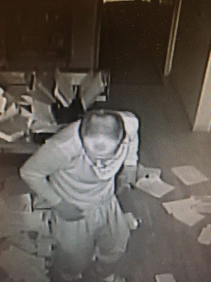 The suspect is described as in his mid to late 20s and has a slender build and receding hairline.