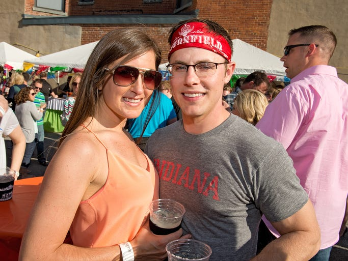 Bakersfield, the Mexican restaurant in Over-the-Rhine, hosted its third annual Buck's Badass Bash to celebrate Cinco de Mayo. Lauren Andrews of Hyde Park and Brett von Ewegen of Wyoming.