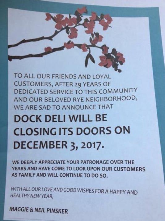 Dock Deli Closes