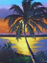 """Painting by """"Highwayman"""" James Gibson"""