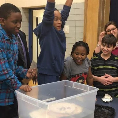 Students build makeshift boats during X STREAM club
