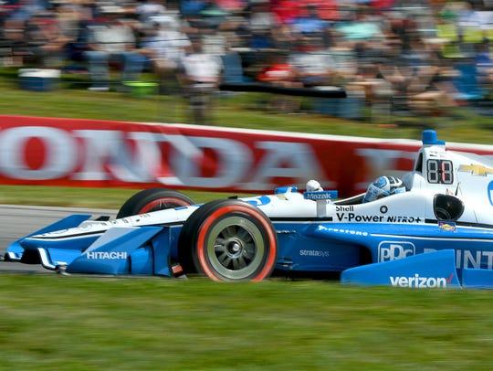 Josef Newgarden won the Honda Indy 200 at the Mid-Ohio