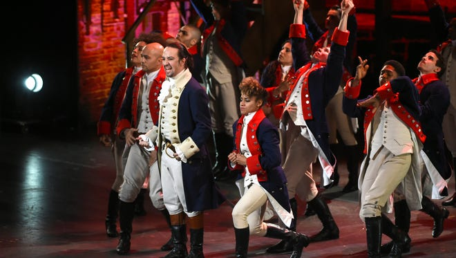 """""""Hamilton,"""" which tells the life story of U.S. founding father Alexander Hamilton, won a near-record 11 Tony Awards in June. Its hip-hop score has won lured young audiences back to Broadway in New York."""