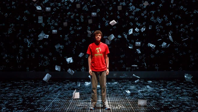 "Adam Langdon as Christopher Boone in the touring production of ""The Curious Incident of the Dog