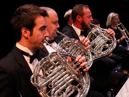 French horn players for the Indian River POPs Orchestra