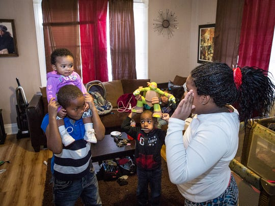 Chris and Alesa Nave, along with their seven children, live in a rental house on Vine Street deemed unsafe by the city.