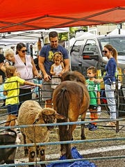 Bowers Farm brought in a traveling petting zoo for kids to enjoy.