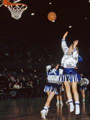 Carolyn Nicholson scored 3,079 points in high school,