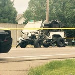 This Jeep Wrangler was involved in a head-on crash in Keizer on Friday with a Chevrolet Blazer. Three McNary High School students were injured.