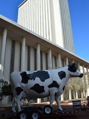 Udderly Ridiculous: And why was there a giant statue of a cow out in the Capitol courtyard on American Trucker Day? Probably because it wouldn't fit through the door.