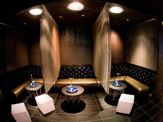 A lounge for bottle service at Anthem at the Tropicana in Atlantic City.