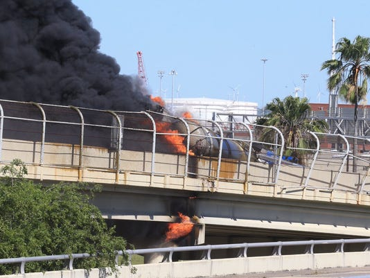 Harbor Bridge fire