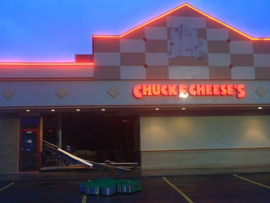 Chuck E Cheese's on Staples after Hurricane Harvey