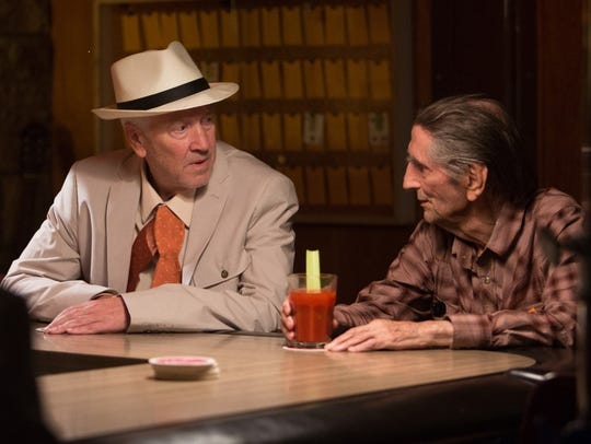 "David Lynch, left, and Harry Dean Stanton in ""Lucky,"""