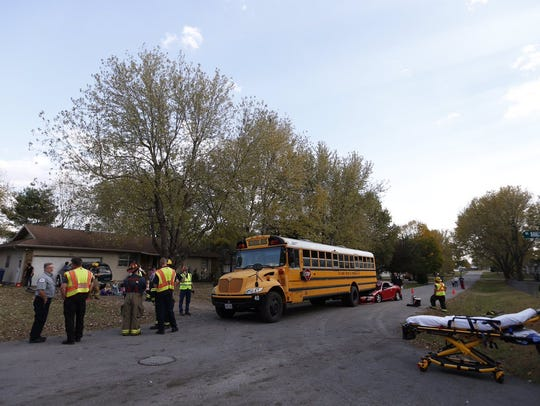 A district spokeswoman said no students were injured