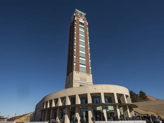 Liberty University's new 275-foot high Freedom Tower,