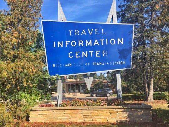 Restored Mackinac City sign