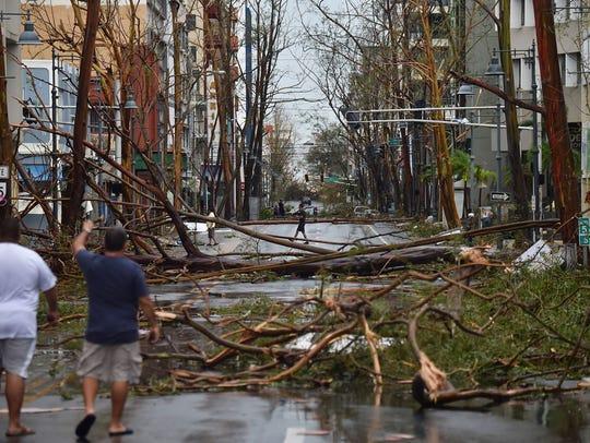 This is Santurce right after Hurricane Maria. Santurce