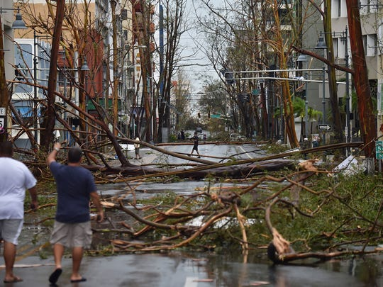 This is Santurce right after Hurricane Maria. Santurce is the most populated district in San Juan, known for its restaurants and nightlife.