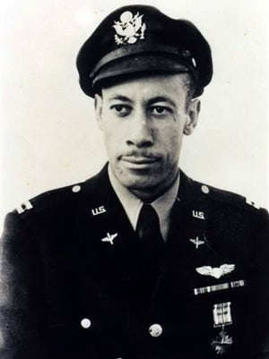 This July 1943 photo provided by the Los Angeles Chapter, Tuskegee Airmen Inc., shows Lowell C. Steward after his graduation from flight training at Tuskegee Army Air Field, in Tuskegee, Ala. Steward, a former member of the Tuskegee Airmen who flew nearly 200 missions over Europe during World War II, died Wednesday, Dec. 17, 2014, in California. He was 95.