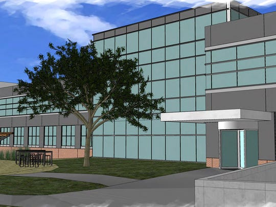 A rendering of Masco's planed, 75,000 square-foot headquarters in Livonia.