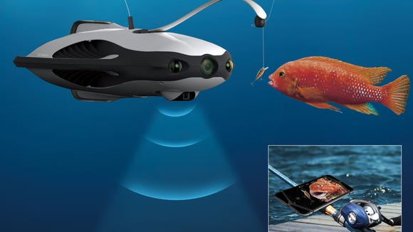 The robotic lure system lets you control your lure more precisely with your smartphone.