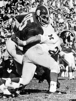 Bubba Smith is pictured in a game against Michigan in 1967.