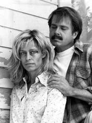 """Farrah Fawcett and Paul LeMat starred as Francine and Mickey Hughes in the 1984 movie """"The Burning Bed."""" Francine killed Mickey when she set his bed on fire while he slept. She was later found not guilty by reason of temporary insanity."""