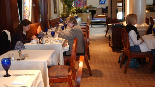 The dining room at The Palace restaurant