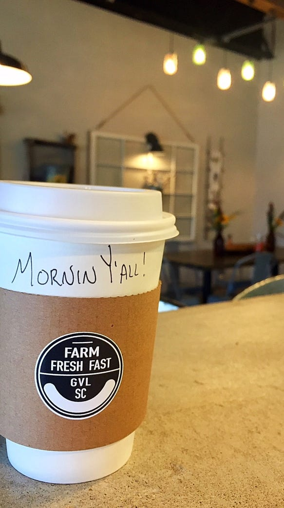 Farm Fresh Fast is now serving Due South coffee at