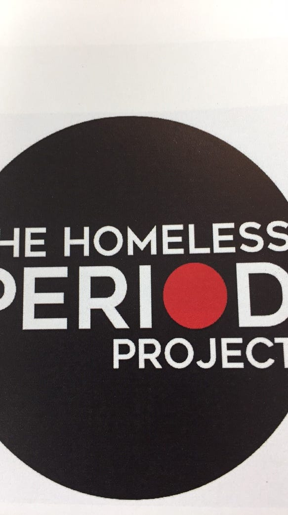 The Homeless Period Project collects feminine hygiene