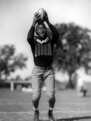 Ozzie Simmons was a standout football player for the University of Iowa Hawkeyes in the 1930s.